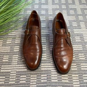 J.M. Weston leather loafer 10
